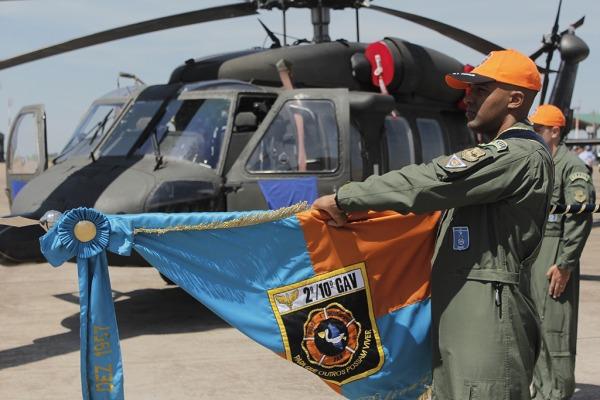 Durante a cerimônia foi realizada a incorporação da aeronave H-60L Black Hawk