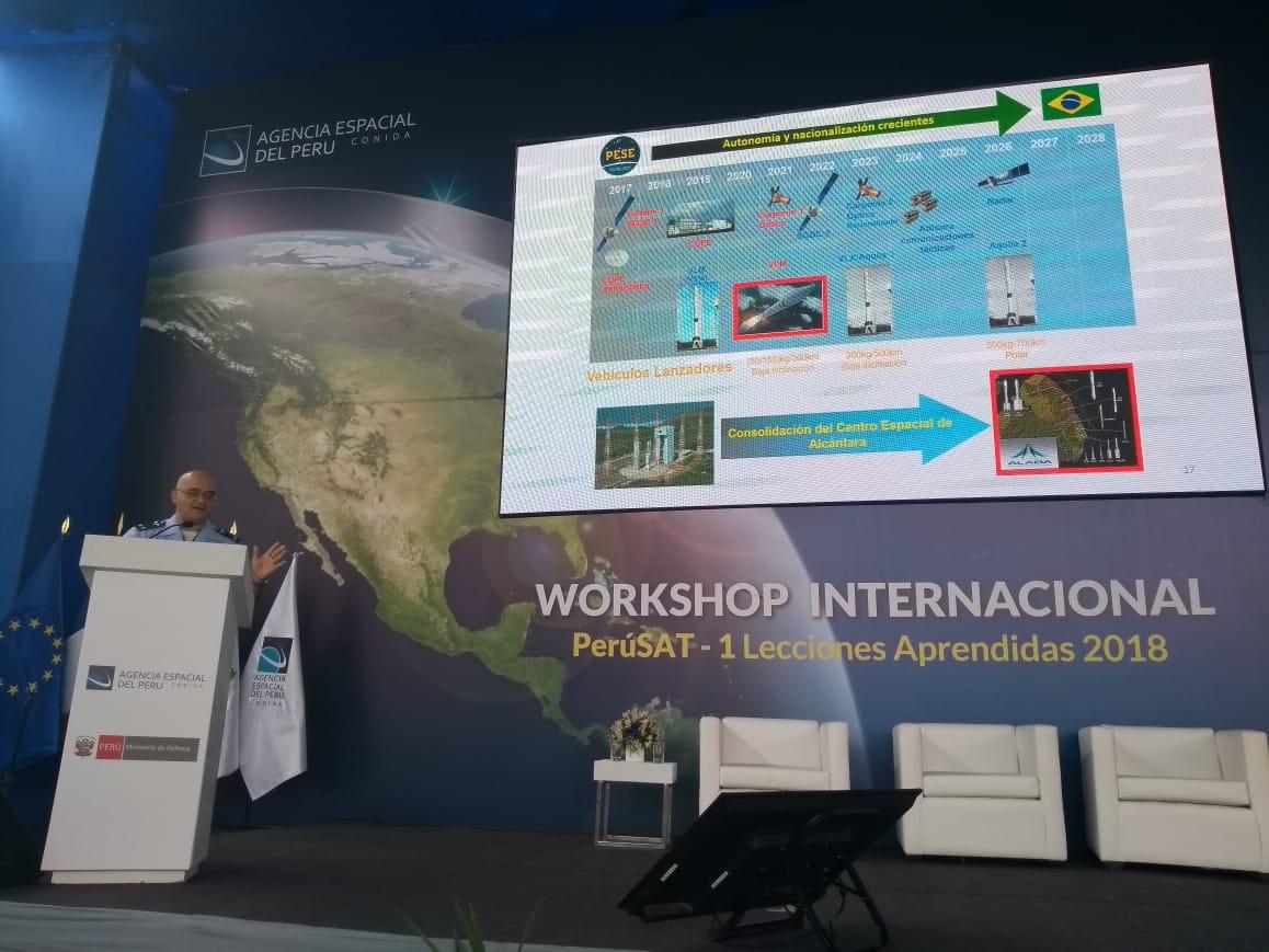 Representante da Comissão de Coordenação de Implantação de Sistemas Espaciais apresentou palestra no evento