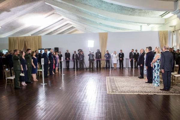 Foi realizado, também, o tradicional almoço de fim de ano entre o Presidente e os Oficiais-Generais das três Forças