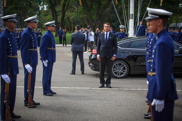 Presidente Jair Bolsonaro participou da cerimônia