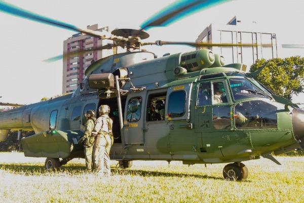 Operação entrou no sexto dia. Nesta segunda-feira (28) mais um helicóptero da FAB pousou em Lagoa Santa