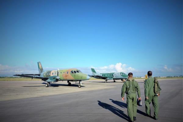 O C-95 Bandeirante é utilizado na especialização dos pilotos de transporte