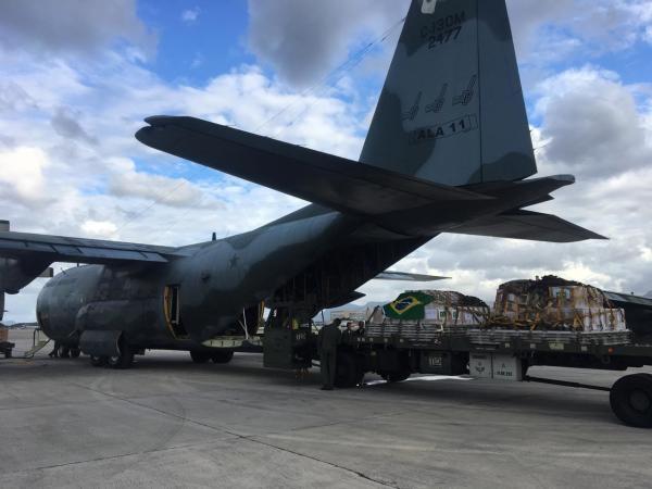 Os aviões também levam equipes da Força Nacional e Bombeiros de Minas Gerais