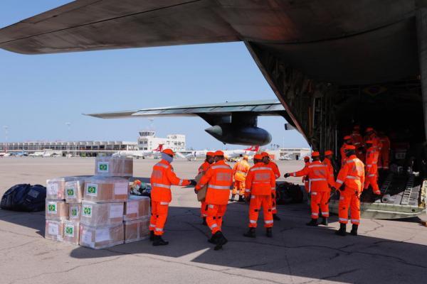 Aeronaves transportaram mais de 20 toneladas de suprimentos e equipamentos, além de 40 militares da Força Nacional e do Corpo de Bombeiros de Minas Gerais para ajuda às vítimas do Ciclone Idai