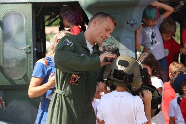 Esquadrão recebeu a visita de duas escolas