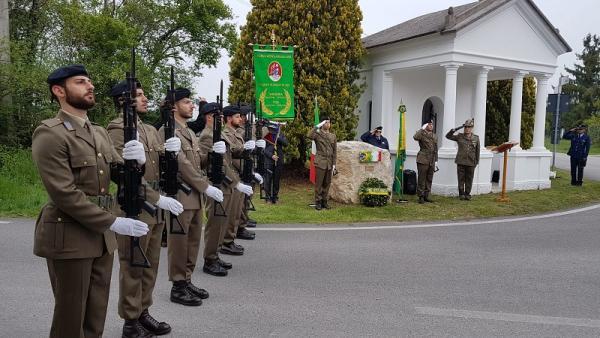 Homenagem ao Tenente Santos foi realizada na cidade de Spilimbergo 74 anos após sua morte