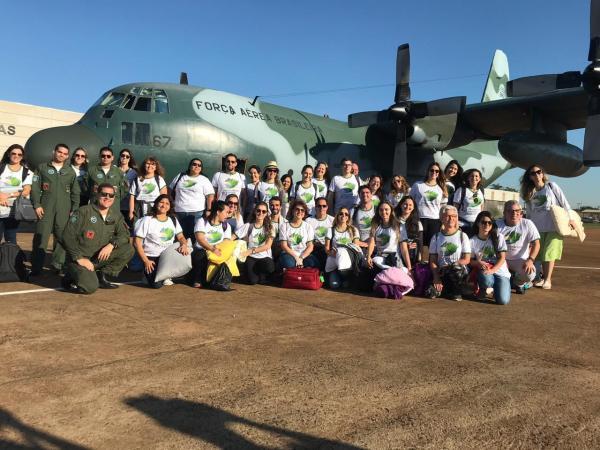 A 19ª edição do mutirão social Voluntários do Sertão conta com o apoio de duas aeronaves da FAB
