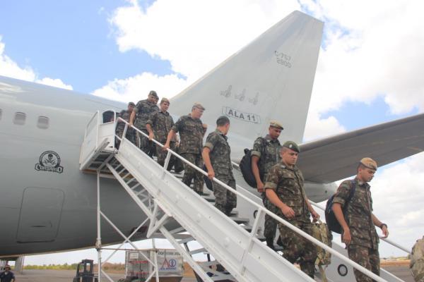 Integrantes do quinto contigente substituíram efetivo que estava em Boa Vista e em Pacaraima desde 22 de janeiro
