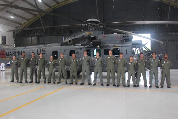 Equipe do Núcleo de Implantação do Esquadrão Aeronaval em Belém