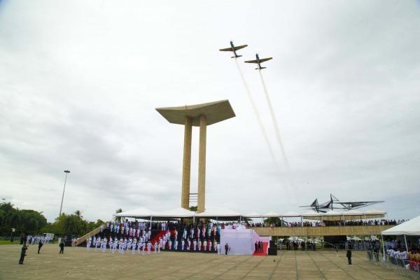 Evento com a presença do Presidente Jair Bolsonaro reconheceu o sacrifício e a bravura de brasileiros que morreram em combate na Segunda Guerra