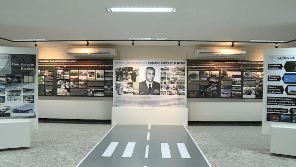 Memorial conta com paineis que contam a história da FAB na Amazônia