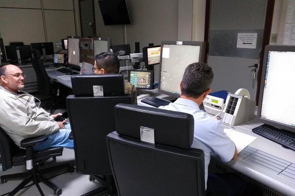 Durante o teste foram utilizadas mensagens pré-definidas para situações usuais