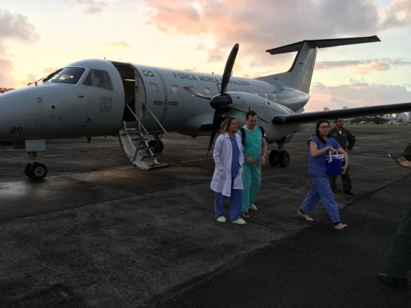 Em muitos casos, o emprego das aeronaves da Força Aérea Brasileira é fundamental para que o processo de transplante aconteça