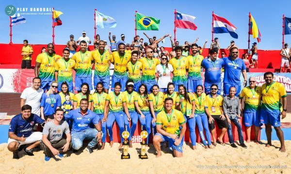 Militares ficaram em primeiro lugar no I Campeonato Sul-Centro Americano de Handebol de Praia; já no vôlei feminino, dupla brasileira ficou com a prata em competição na Suíça