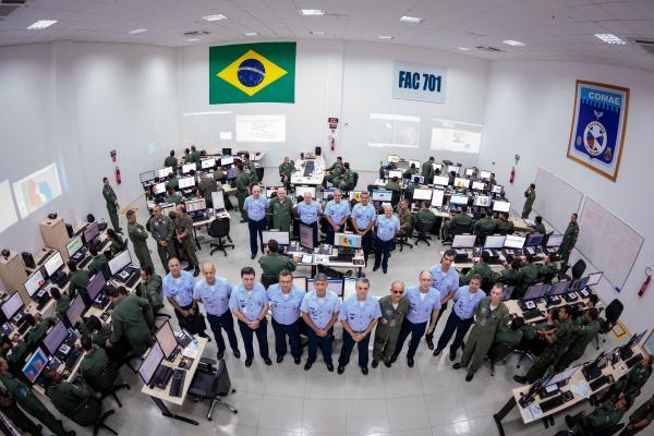A visita ocorreu nesta quarta-feira (28), no Comando de Operações Aeroespaciais, em Brasília