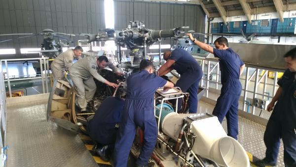 Inspeção da aeronave H225M foi realizada com a participação de militares da Marinha do Brasil, Exército Brasileiro e Força Aérea Brasileira
