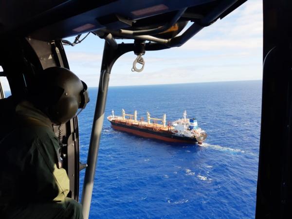 A evacuação aeromédica foi realizada por um helicóptero do Esquadrão Falcão (1°/8° GAV)