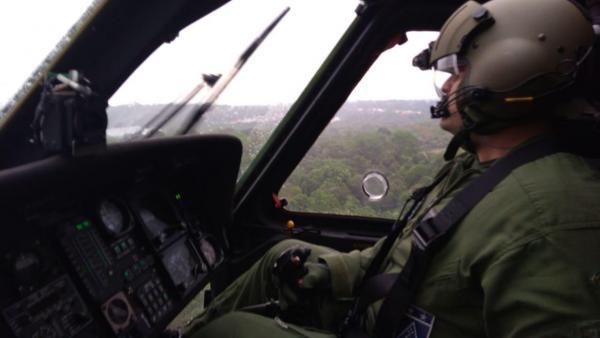 Helicóptero H-60 L Black Hawk içou cinco ocupantes de avião que se acidentou após a decolagem do aeroporto da capital amazonense