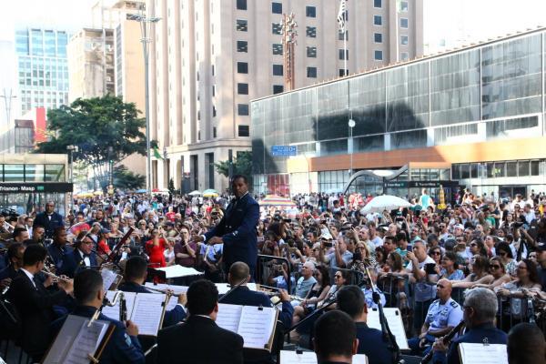 Confira também como foram as apresentações das Bandas de Música da Base Aérea de São Paulo, da Escola de Especialistas de Aeronáutica e da Ala 7