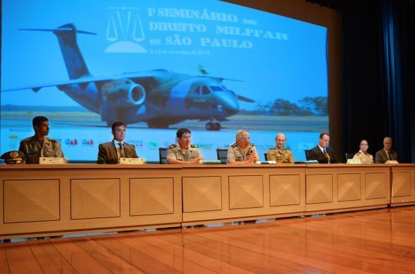 Evento foi voltado a estudantes e operadores da área do Direito e teve como objetivo celebrar os 50 anos do Código Penal Militar e do Código de Processo Penal Militar