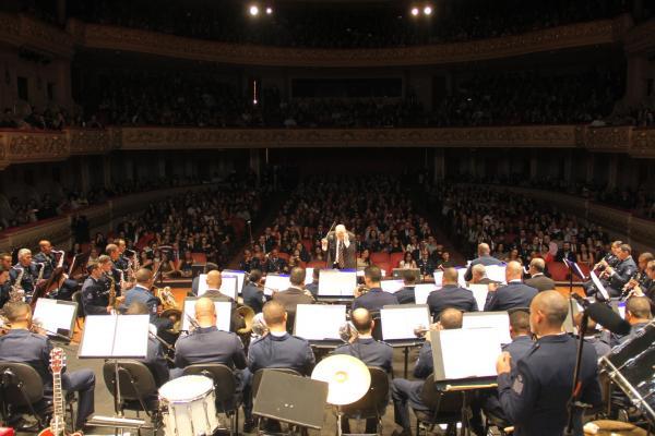 Já a Banda de Música da Ala 4 realizou Concerto no Centro de Convenções da Universidade Federal de Santa Maria