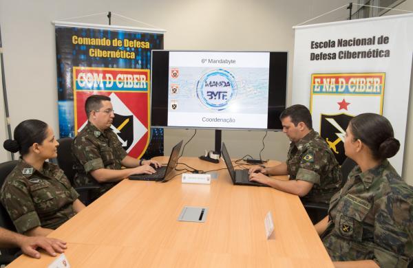 Sexta edição do Mandabyte, realizada nessa quarta-feira (13), contou com a participação de 176 militares de todo o Brasil