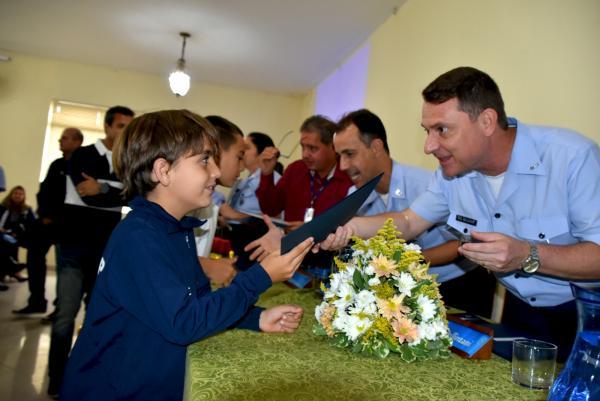 Aproximadamente 200 crianças foram atendidas durante o ano na Escola Preparatória Cadetes do Ar