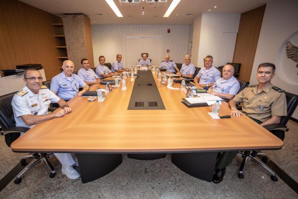 A visita ocorreu nesta terça-feira (26), no Comando da Aeronáutica, em Brasília (DF)