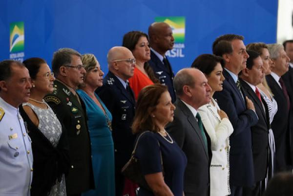A cerimônia aconteceu nesta segunda-feira (9), no Salão Nobre do Palácio do Planalto, em Brasília (DF)
