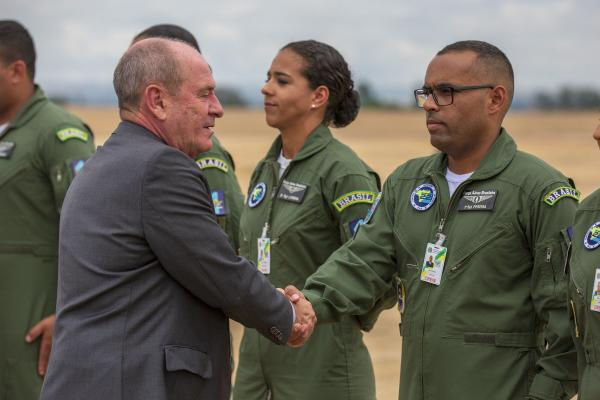 O retorno está previsto para sábado (08), na Ala 2 - Base Aérea de Anápolis (GO)