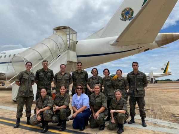 Militares da área de saúde participam da Operação Regresso à Pátria Amada Brasil