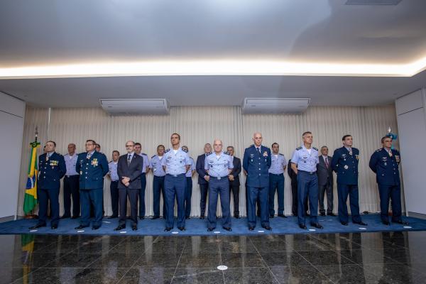 Cerimônia alusiva às transmissões dos cargos foi realizada nesta quarta-feira (12), no Espaço Força Aérea, em Brasília (DF)