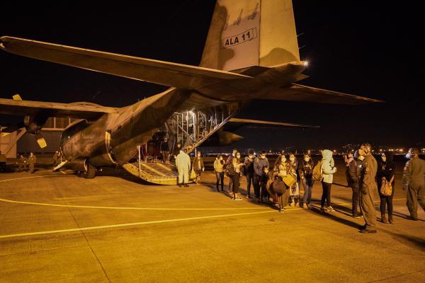 Duas aeronaves C-130 Hércules do 1°/1° GT foram empregadas na missão.