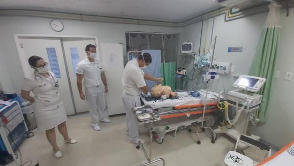 As aulas teórico-prática tiveram objetivo de orientar sobre a sequência rápida de intubação orotraqueal