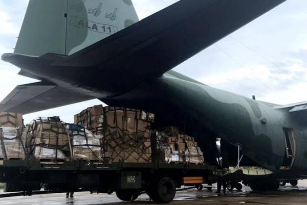 Uma aeronave C-130 Hércules decolou nesta sexta-feira (03) do Rio de Janeiro (RJ) para Manaus (AM)