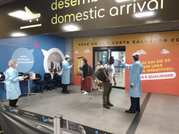 A ação acontece na área de desembarque do Aeroporto Internacional Deputado Luís Eduardo Magalhães, na Bahia
