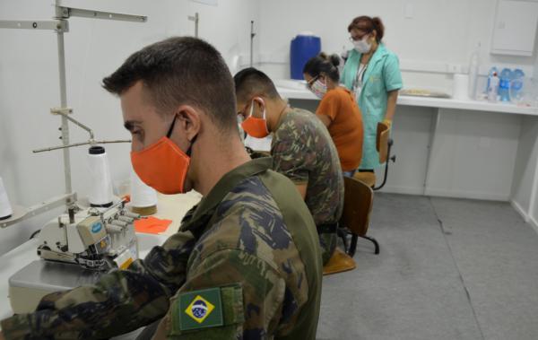 Iniciativa busca apoio voluntário do efetivo da Ala 10 para confecção de máscaras para combate à COVID-19