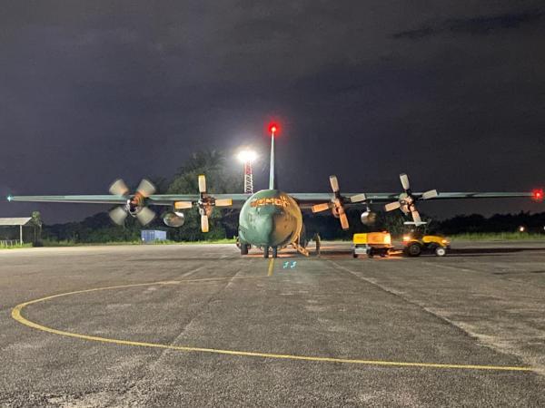 C-130 Hércules realizou Apoio Aéreo Logístico no transporte de mais de 11 toneladas de materiais hospitalares para a região norte do país