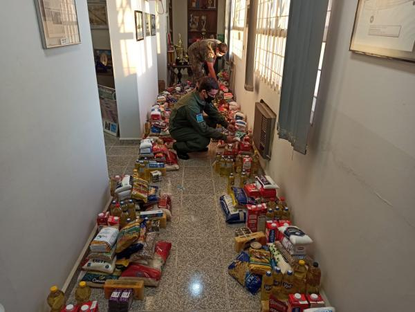 As doações foram para alunos do PROFESP, Casa de Apoio São Francisco de Assis, Lar dos Idosos e funcionários terceirizados da Ala 5
