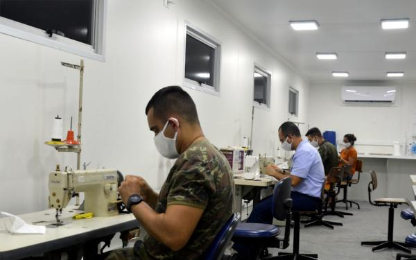 Além do efetivo, a GUARNAE-NT também oferece máscaras de proteção a outros setores da sociedade no Rio Grande do Norte