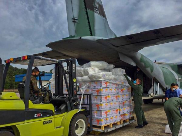 C-105 Amazonas realizou Transporte Aéreo Logístico de mais de 4 toneladas de EPIs para a região norte do país