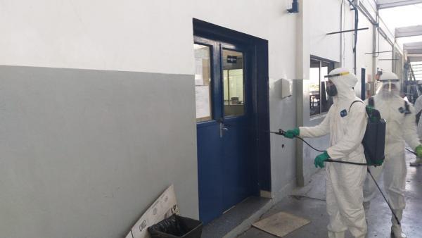 Objetivo foi realizar o trabalho de desinfecção nas instalações militares e prevenir a disseminação e a contaminação do novo Coronavírus