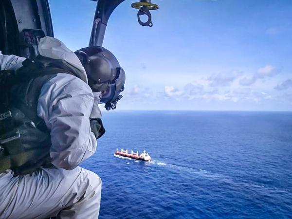 A evacuação aeromédica foi realizada por um helicóptero do 1º/8º GAV - Esquadrão Falcão