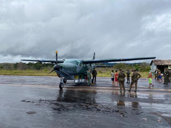 Foram transportados 580 kg de alimentos a bordo do C-98 Caravan