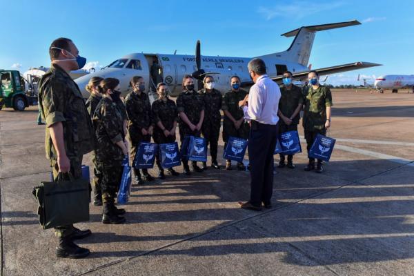 Transporte foi realizado por um C-97 Brasília da Força Aérea Brasileira