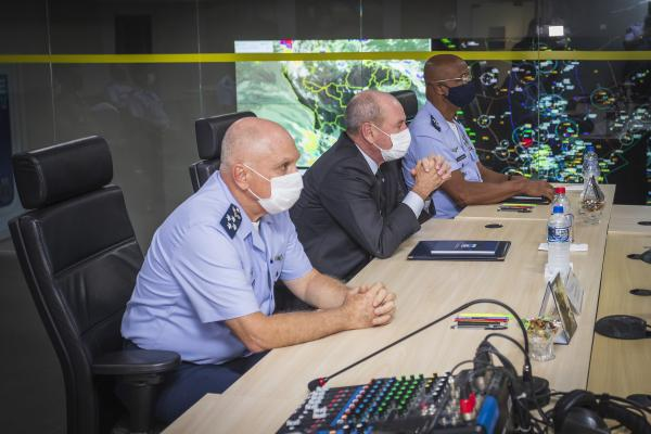 Visita institucional ocorreu durante reunião do Alto-Comando da Aeronáutica, realizada nesta terça-feira (23), em Brasília (DF)