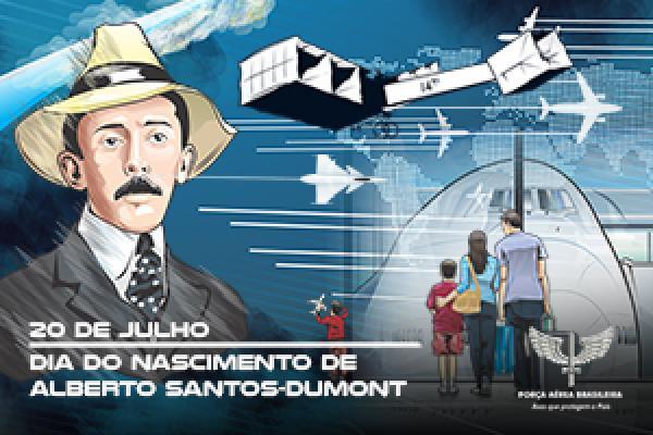 Vídeo celebra, no dia 20 de julho, o aniversário de Alberto Santos-Dumont, brasileiro pioneiro na aeronáutica mundial