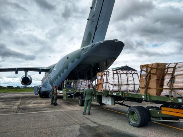 KC-390 realizou três missões, transportando cerca de 32 toneladas de carga