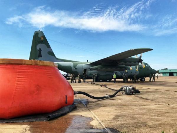 Aeronave C-130 opera a partir de Campo Grande (MS) e H-60L em Corumbá (MS)