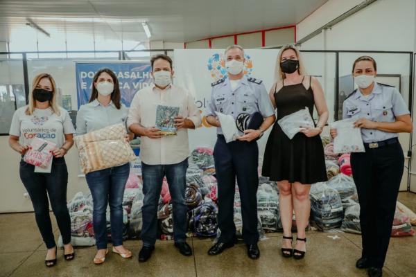 As doações foram feitas por meio do efetivo da Guarnição de Aeronáutica de Anápolis (GUARNAE-AN)